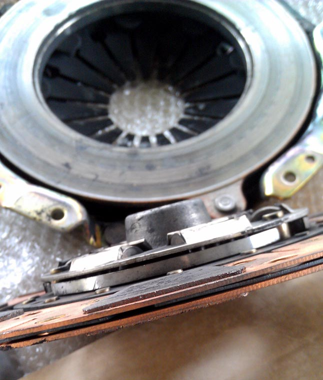 The original clutch in the car...slipping on stock power