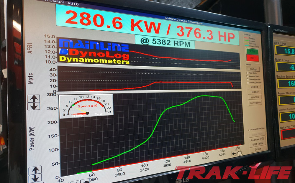 Pearl build v3.0 280kW dyno sheet